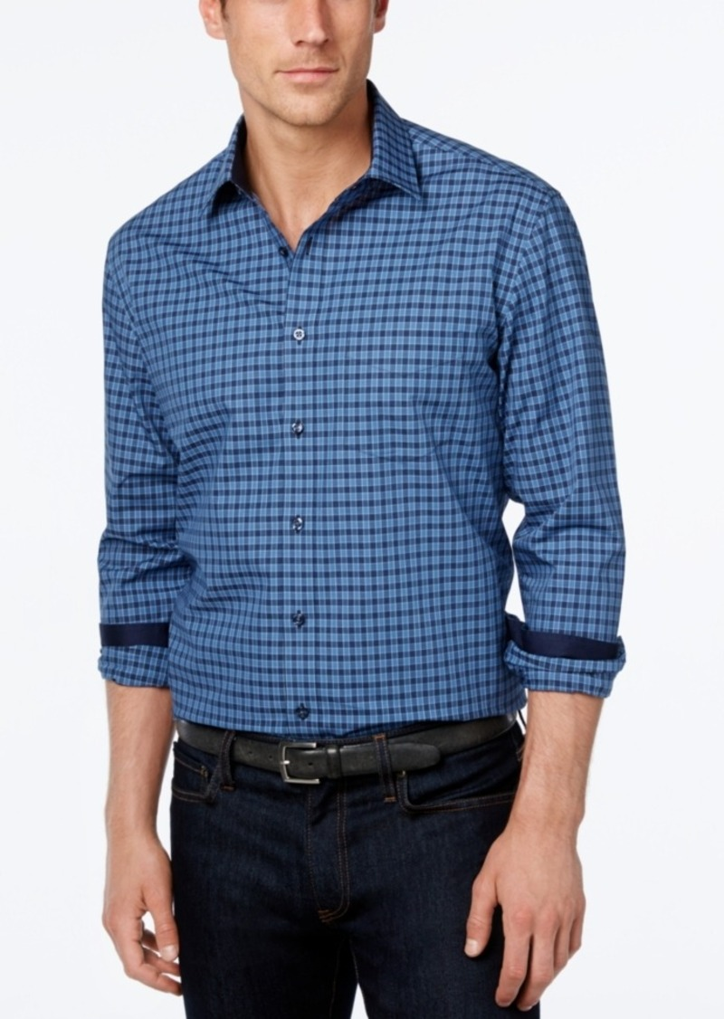 Tasso Elba Men's Check Long-Sleeve Shirt
