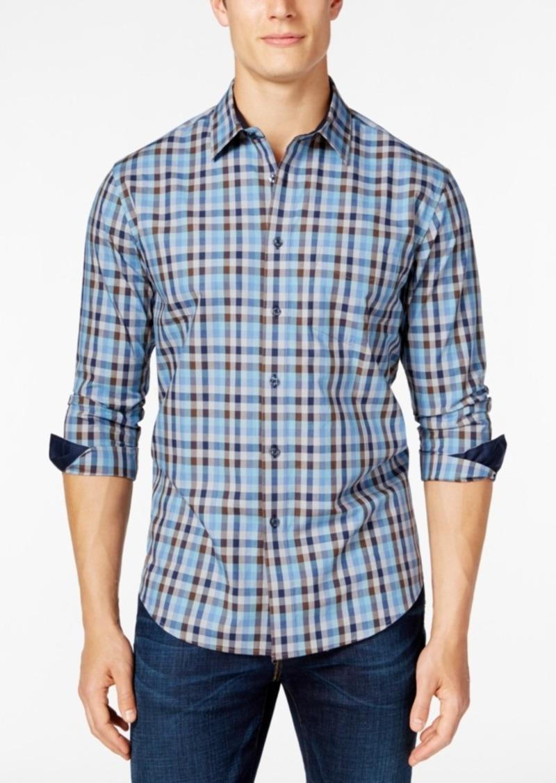 Tasso Elba Men's Big and Tall Check Long-Sleeve Shirt, Classic Fit