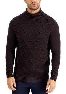 Tasso Elba Men's Chunky Marbled Turtleneck Sweater, Created for Macy's
