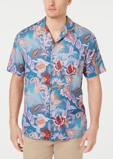 Tasso Elba Men's Cira Floral Silk Shirt, Created for Macy's