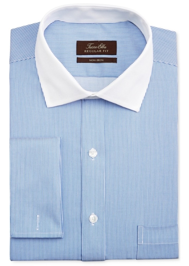 Tasso elba tasso elba men 39 s classic fit french cuff for Men s classic dress shirts
