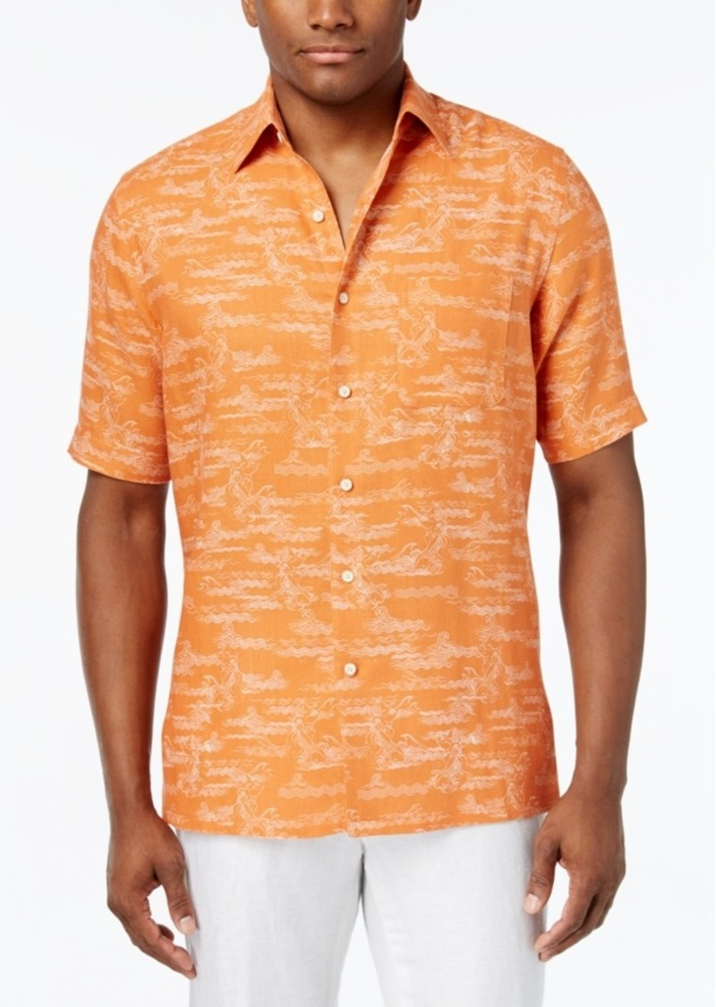 Tasso Elba Men's Classic-Fit Graphic-Print Short-Sleeve Shirt, Only at Macy's