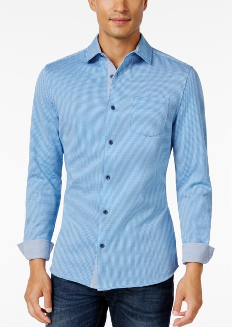 Tasso Elba Men's Classic Fit Long-Sleeve Shirt, Only at Macy's