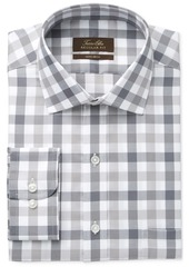 Tasso Elba Men's Classic-Fit Non-Iron Gray Mega Gingham Dress Shirt, Only at Macy's