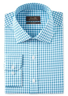 Tasso Elba Men's Classic/Regular Fit Herringbone Gingham Dress Shirt, Created for Macy's