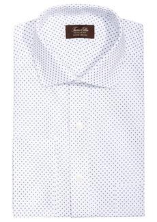 Tasso Elba Men's Classic/Regular Fit Non-Iron Diamond Print French Cuff Dress Shirt, Created for Macy's