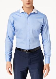 Tasso Elba Men's Classic/Regular Fit Non-Iron Fine Herringbone French Cuff Dress Shirt, Created for Macy's