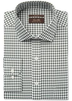 Tasso Elba Men's Classic/Regular Fit Non-Iron Hunter Herringbone Gingham Dress Shirt, Created for Macy's
