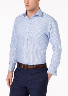 Tasso Elba Men's Classic/Regular Fit Non-Iron Large Stripe Dress Shirt, Created for Macy's