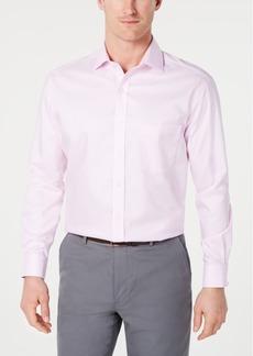 78959d625d4 Tasso Elba Men s Slim-Fit Non-Iron Supima Small Herringbone French Cuff Dress  Shirt