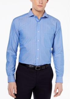 Tasso Elba Men's Classic/Regular Fit Non-Iron Multi Diamond Dobby Dress Shirt, Created for Macy's