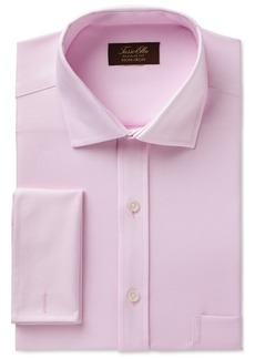 Tasso Elba Men's Classic/Regular Fit Non-Iron Royal Oxford French Cuff Dress Shirt, Created for Macy's