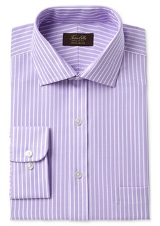 Tasso Elba Men's Classic/Regular Fit Non-Iron Twill Bar Stripe Dress Shirt, Created for Macy's
