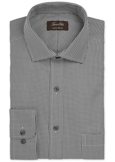 Tasso Elba Men's Classic/Regular Fit Non-Iron Twill Houndstooth Dress Shirt, Created for Macy's
