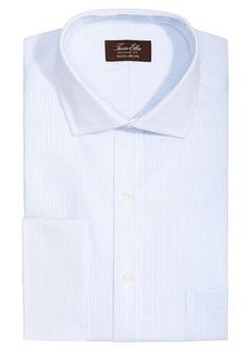 Tasso Elba Men's Classic/Regular Fit Non-Iron Twill Pin Stripe French Cuff Dress Shirt, Created for Macy's