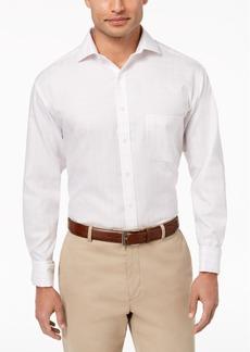 Tasso Elba Men's Classic/Regular Fit Non-Iron Windowpane French Cuff Dress Shirt, Created for Macy's