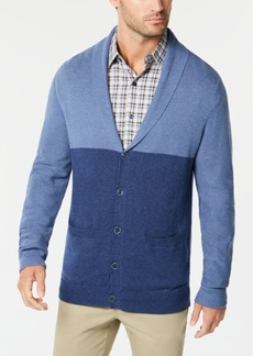 Tasso Elba Men's Colorblocked Shawl-Collar Cardigan, Created for Macy's