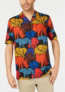 Tasso Elba Men's Congo Graphic Silk Shirt, Created for Macy's