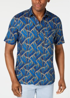 Tasso Elba Men's Congo Grass Printed Silk Shirt, Created for Macy's