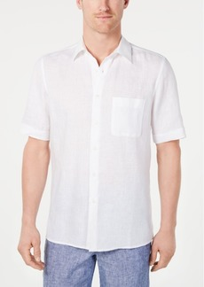 Tasso Elba Men's Cross-Dye Linen Shirt, Created for Macy's