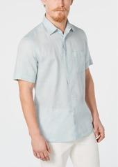 Tasso Elba Men's Cross-Dye Linen Shirt, Created for Macy's
