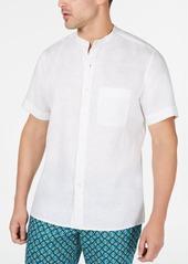 Tasso Elba Men's Crossdye Linen Shirt, Created for Macy's