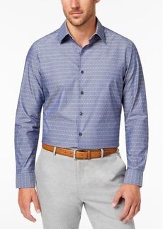 Tasso Elba Men's Diamond Chambray Shirt, Created for Macy's