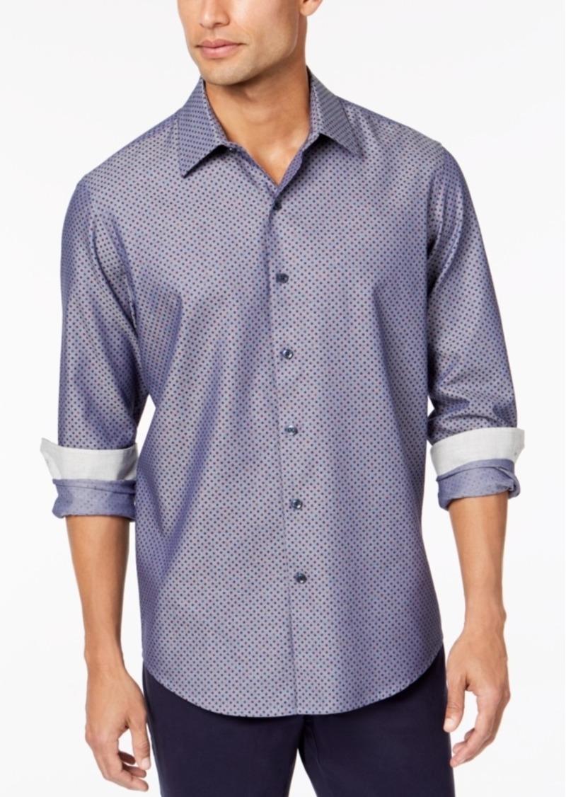 Tasso Elba Men's Diamond-Print Shirt, Created for Macy's
