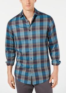 Tasso Elba Men's Diliano Dobby Plaid Stretch Shirt, Created for Macy's