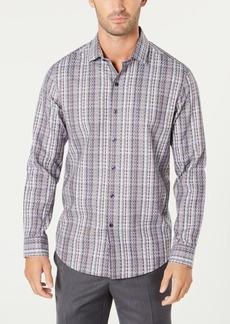Tasso Elba Men's Dobby Plaid Shirt, Created for Macy's