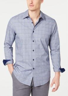 Tasso Elba Men's Dobby Plaid Shirt, Created for Macy's