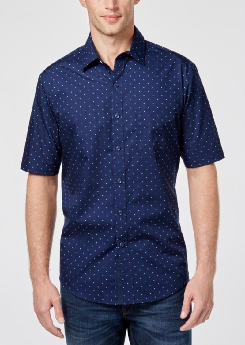 Tasso Elba Men's Dot-Print Shirt, Only at Macy's