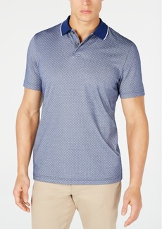 Tasso Elba Men's Dot-Print Supima Cotton Polo, Created for Macy's