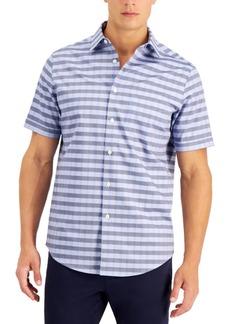 Tasso Elba Men's Falad Striped Dobby Shirt, Created for Macy's