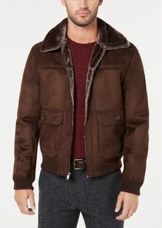 Tasso Elba Men's Faux-Shearling Flight Jacket, Created for Macy's