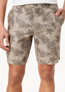 Tasso Elba Men's Fern-Print Linen Shorts, Created for Macy's