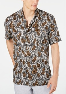 Tasso Elba Men's Ficotta Paisley Silk Shirt, Created for Macy's
