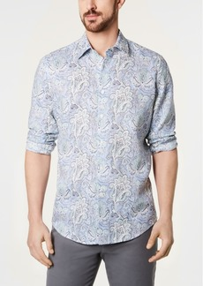 Tasso Elba Men's Floral-Paisley Linen Shirt, Created for Macy's