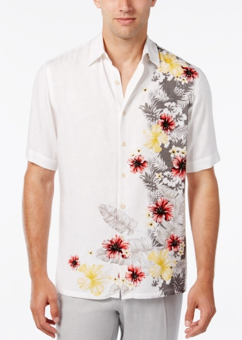 Tasso Elba Men's Floral-Print Short-Sleeve Shirt, Classic Fit, Only at Macy's