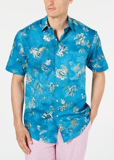 Tasso Elba Men's Flusso Printed Stretch Shirt, Created for Macy's