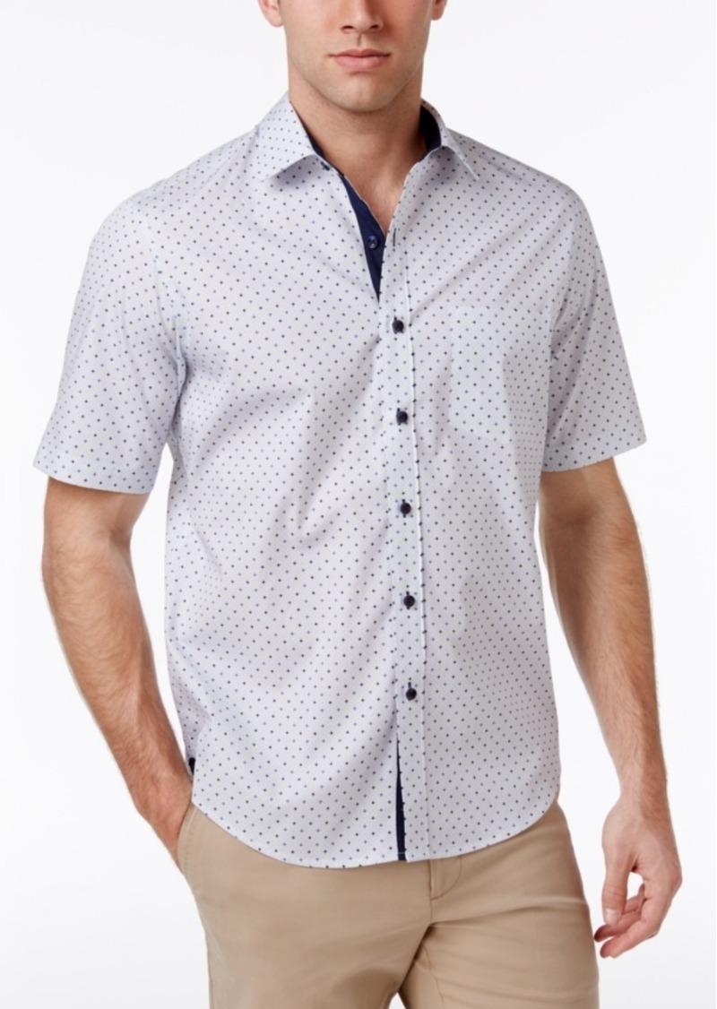 Tasso Elba Men's Foulard 100% Cotton Shirt, Created for Macy's
