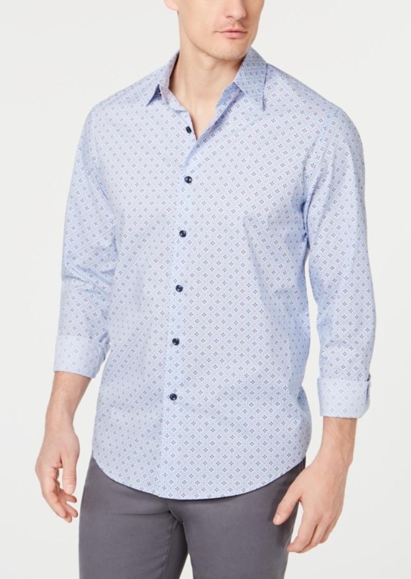 Tasso Elba Men's Foulard Printed Shirt, Created for Macy's
