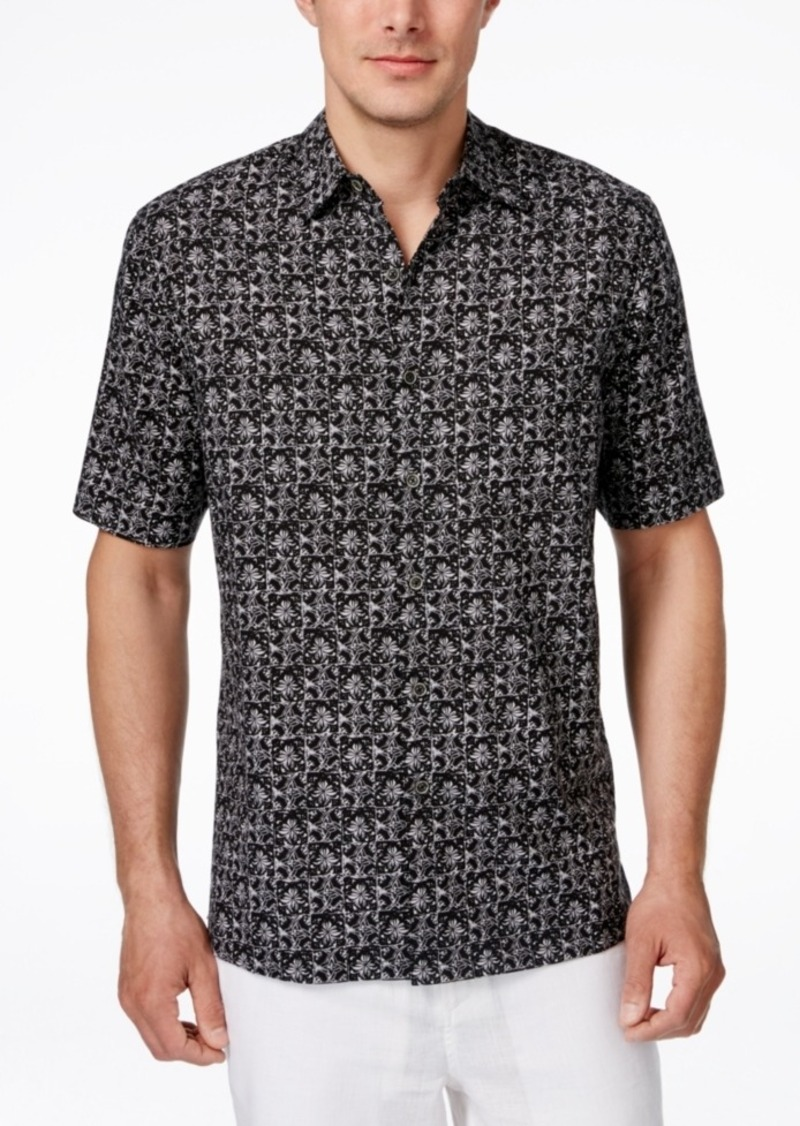 Tasso Elba Men's Gaudi Tile-Print Short-Sleeve Shirt, Only at Macy's
