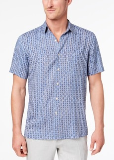 Tasso Elba Men's Geo-Print Pocket Shirt, Created for Macy's