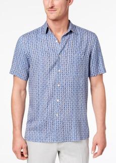 Tasso Elba Men's Geo-Print Pocket Shirt, Created for Macy's