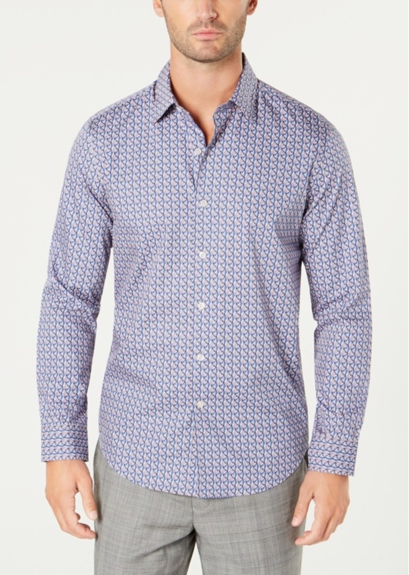 Tasso Elba Men's Geo-Print Shirt, Created for Macy's