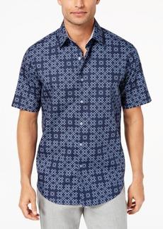 Tasso Elba Men's Geometric Dot-Print Shirt, Created for Macy's