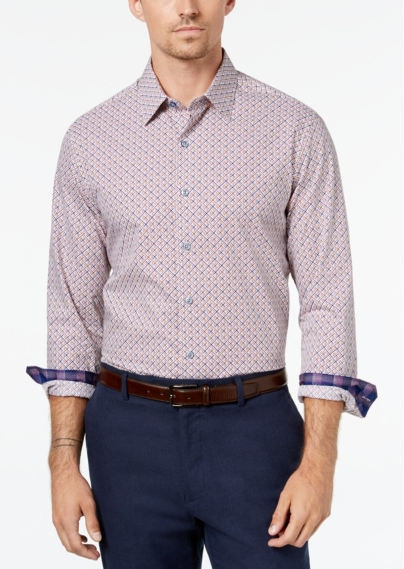 Tasso Elba Men's Geometric Print Shirt, Created for Macy's