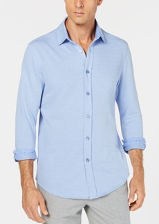 Tasso Elba Men's Herringbone Knit Shirt, Created for Macy's