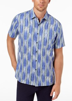 Tasso Elba Men's Ikat Stripe Shirt, Created for Macy's